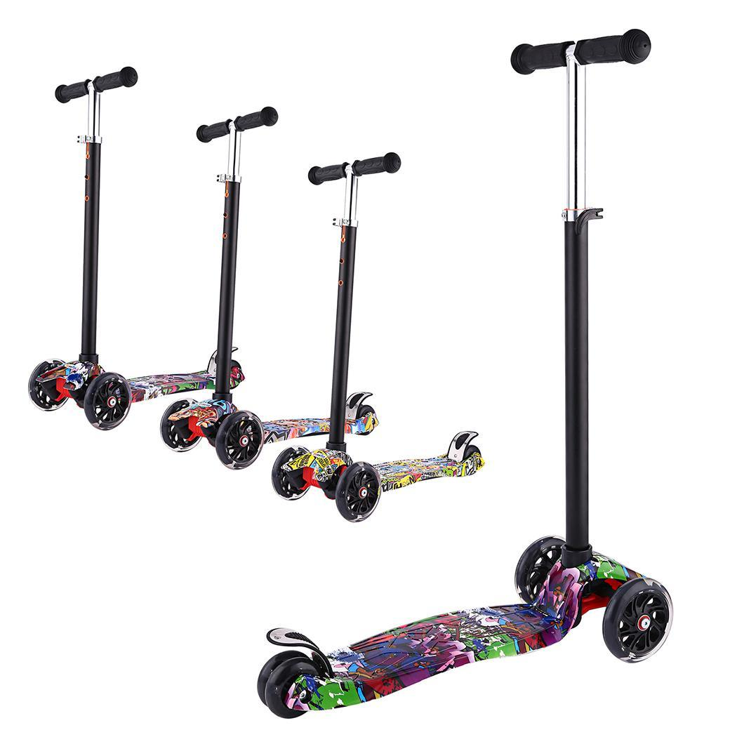 ANCHEER Height Adjustable Children Scooter with Flashing Light and 3 Wheels 1
