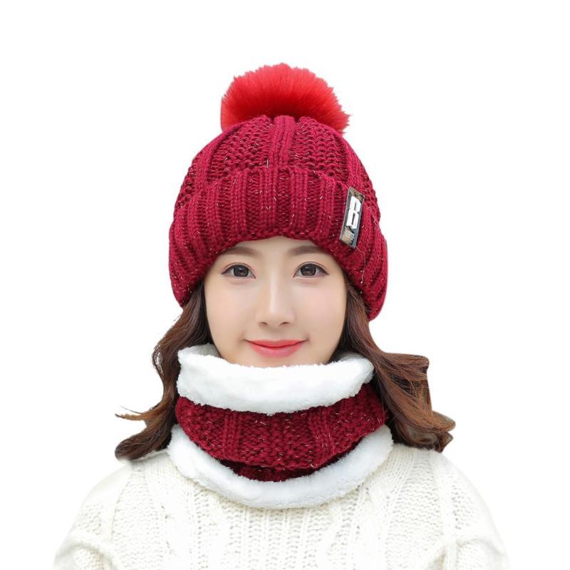 Women/'s Winter Real Rex fourrure de lapin Chaud Bonnet Tricot Beanie Fox Fur Ball Chaud Chapeau
