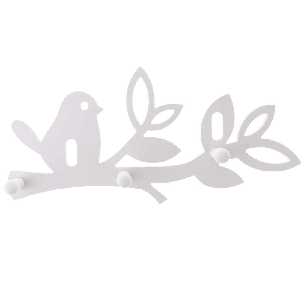 منحوتة الطيور تصميم الجدار الشنق 3-هوك خطاطيف معاطف مفاتيح هوك منشفة رف شماعات ديكور الرف
