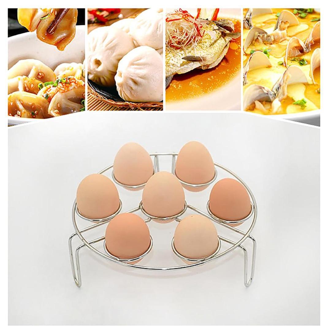 2Pcs Stainless Steel Kitchen Steamer Rack Instant Pot Egg Vegetable Cooker Holder Heater
