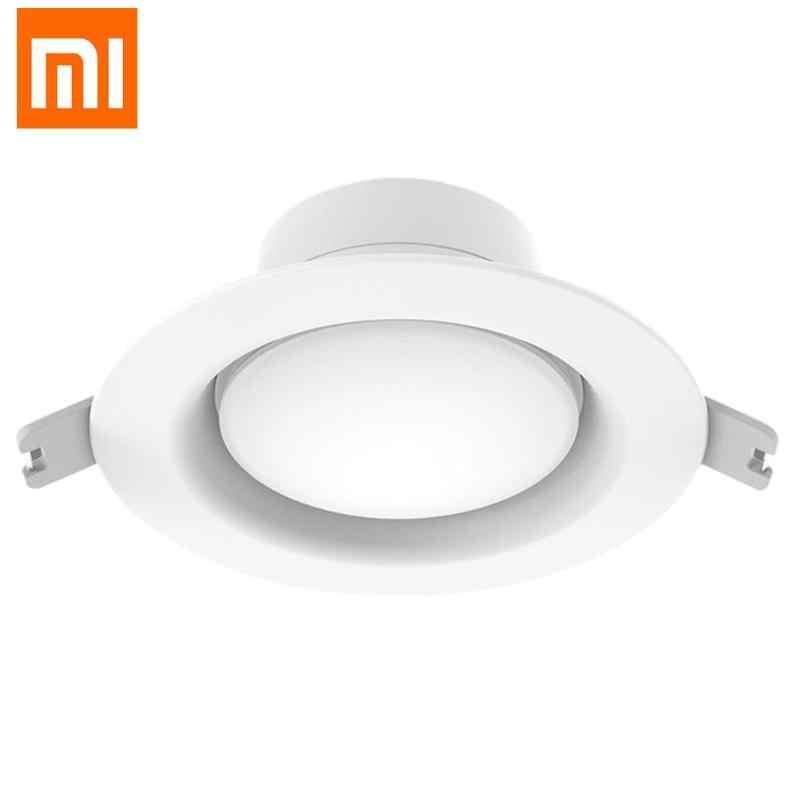 Оригинальный Xiaomi Yeelight светодиодный светильник Теплый желтый белый круглый Потолочный 5 Вт 4000 к встроенный ночник для спальни, дома применение