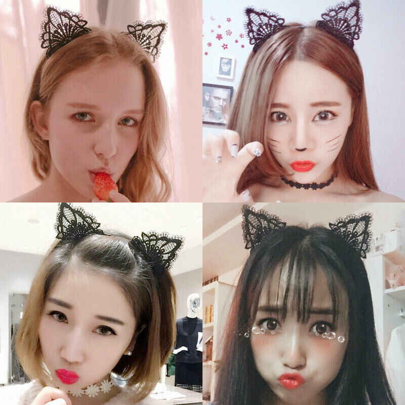 2019 최신 뜨거운 여자 여자 고양이 귀 머리띠 펠트 금속 hairband 의상 멋진 코스프레 파티 선물