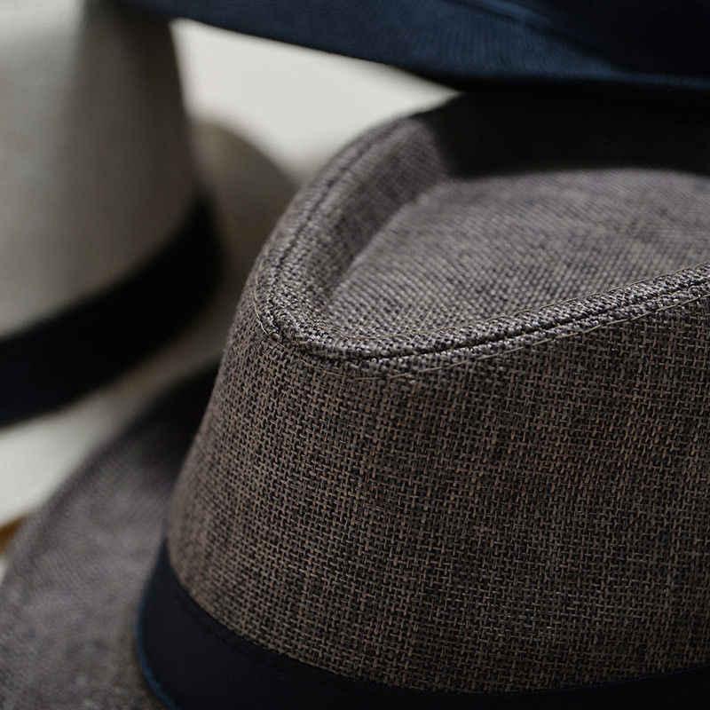 Hot Bán Unisex Người Đàn Ông Phụ Nữ Thời Trang Mùa Hè Mát Mẻ Panama Rộng vành Fedora Straw Made Thời Trang Phong Cách Hat