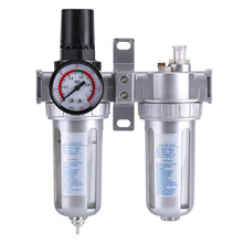 Пневматический воздушный фильтр давления Регулятор лубрикатора влаги воды ловушка очиститель масла-воды сепаратор G1/4 3/8 ''Инструмент 1,5 МПа