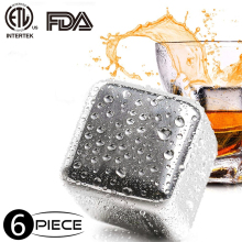 Stainless Steel Whisky Ice Cubes, Reusable Chillin