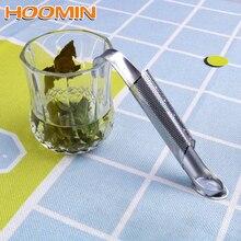 HOOMIN чайные аксессуары из нержавеющей стали фильтр-инфузор изогнутая рукоятка кухонные инструменты
