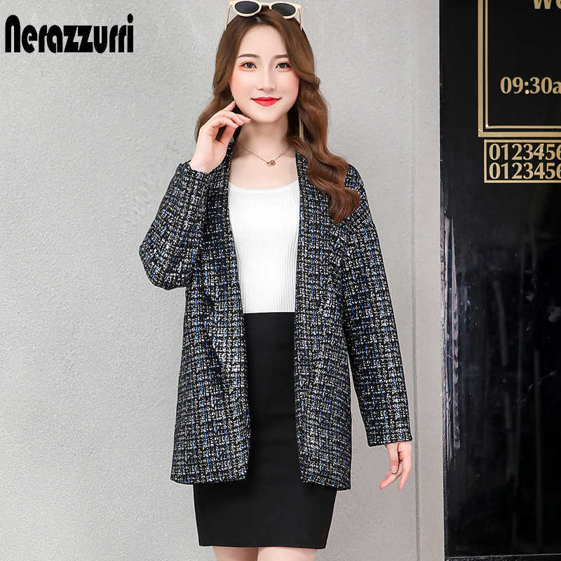Nerazzurri ladies suede blazer 2019 thick warm colorful women blazers and jackets no button female plus size blazer 5xl 6xl 7xl