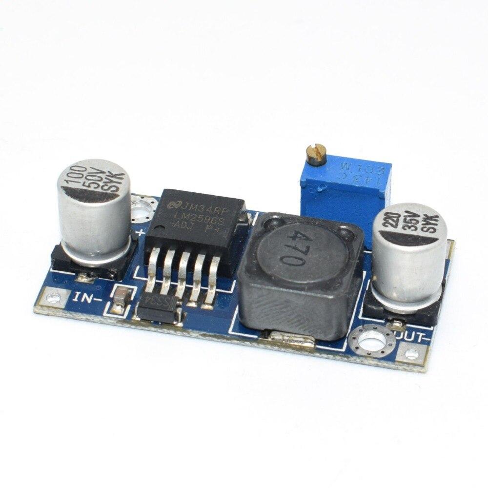 100pcs High Quality LM2596 DC DC Input 4V 35V Output 1 23V 30V Adjustable Step down