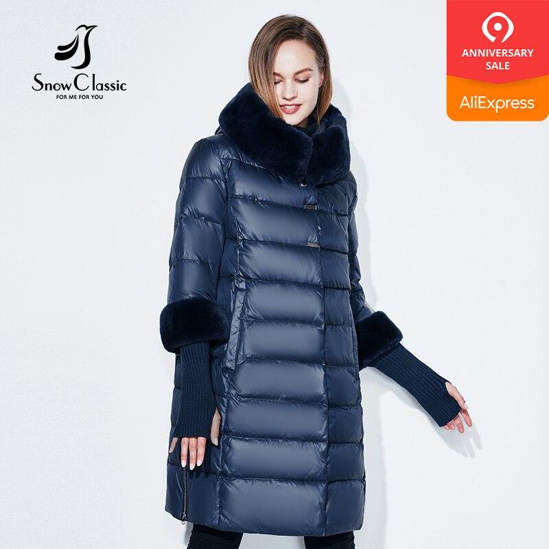 Snowclassic 2018 mulheres casaco mulheres jaqueta camperas mujer abrigo invierno park plus size gola De Pele chapéu 5XL punhos grosso Europa