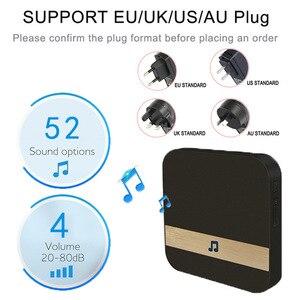 Image 3 - חכם WiFi וידאו פעמון מצלמה חזותי אינטרקום עם פעמון נמוך צריכת חשמל דלת פעמון אלחוטי אבטחת בית מצלמה