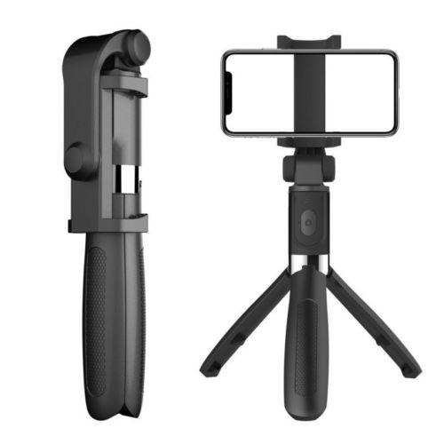 Smartphone Projector Extendable Wireless Remote Control Smartphone Video Tripod Handheld Selfie Stick Tripod for DSLR Camera etc. Phone Tripod