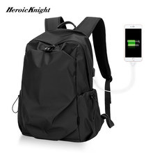 Heroic Knight Men Fashion Backpack 15.6inch Laptop Backpack Men Waterproof Travel Outdoor backpack School Teenage Mochila Bag(China)