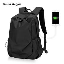 Heroic Knight Men modny plecak 15 6 calowy plecak na laptopa mężczyźni wodoodporny plecak podróżny szkoła dla nastolatki mochila Bag tanie tanio Oxford Unisex Miękka Ił kieszeń 20-35 litr Wnętrza przedziału Komputer pośrednia Wewnętrzna kieszeń Wnętrze slot kieszeń
