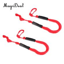 2pcs PP 3.5ft Marine Bungee Dock Line/Boat Mooring Rope Bungee Tie Stretch Red for Kayaking Canoeing Surfing Accessories