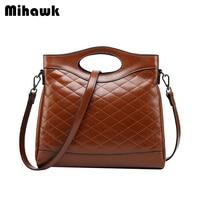 Mihawk Women Fashion Handbag Travel Make Up Clothing Sorting Organizer Shoulder Pouch Ladies Leather Crossbody Tote Accessories