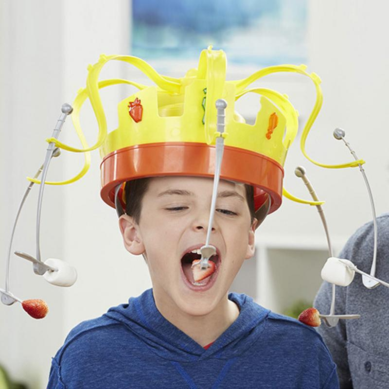 Crown Food Hat Funny Tidy Party Eat The Food Strawberry Marshmallow With Revolving Party Hat Not Include Battery