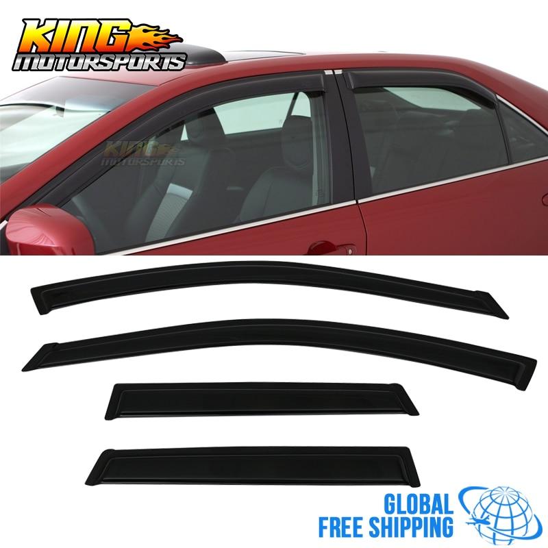 4pcs Smoke Tint Sun//Rain Guard Vent Shade Window Visors Fit 00-05 Dodge Neon