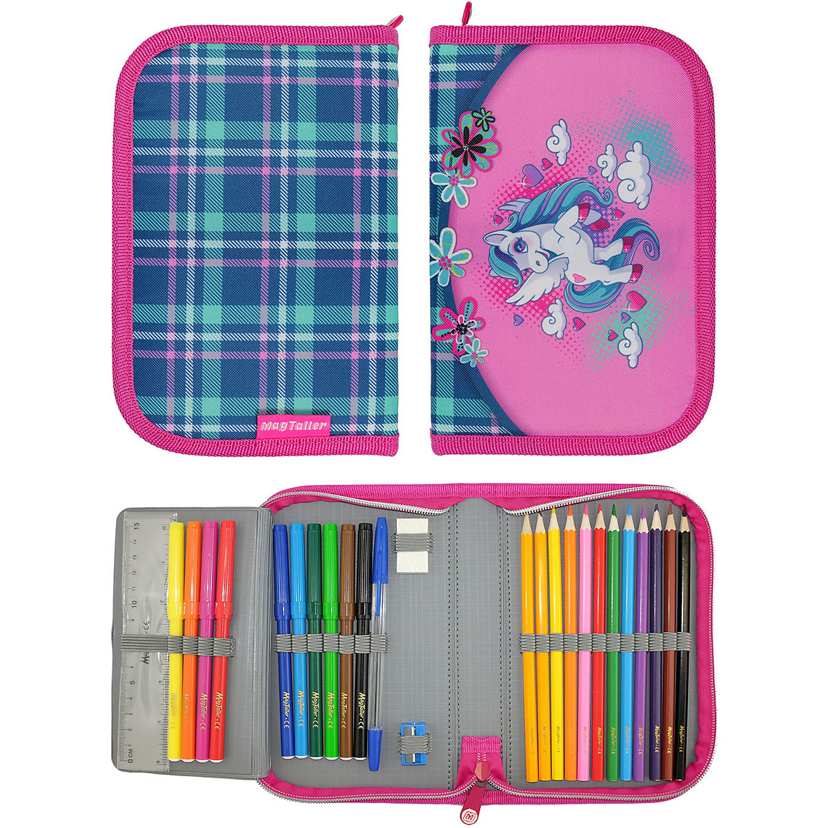 Pencil Cases MAGTALLER 11154930 school supplies stationery pencil cases for girls and boys drawing a5 dokibook notebook candy color agenda planner organizer diary with rope gift notepad stationery office school supplies