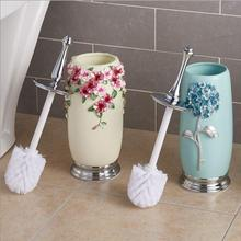 Cleaning Brush And Holder Set Bathroom Accessories Stainless Steel Toilet Brush, Resin Kit Household Article