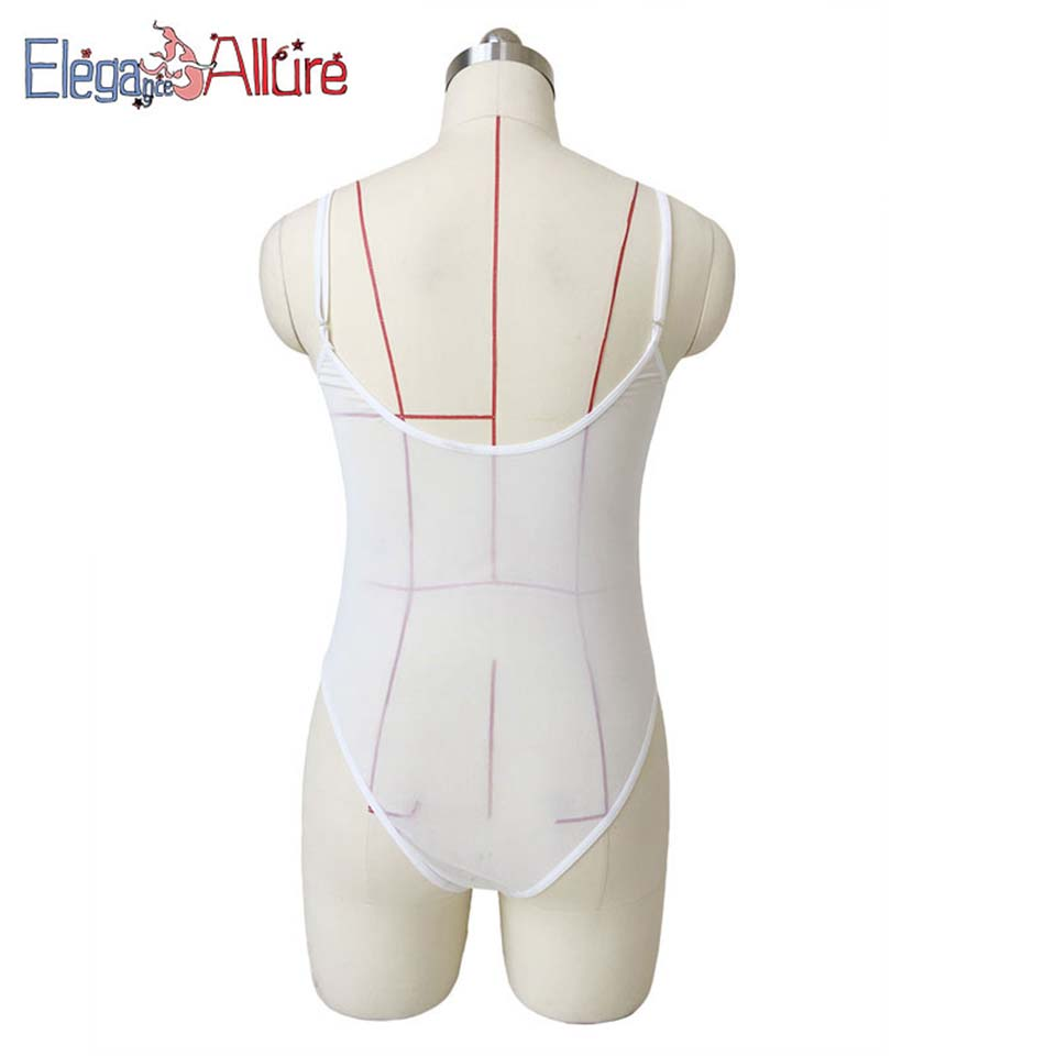 E A New Sexy Costumes Female Nightwear Transparent Teddy Women Lingerie Sex Bodysuit Erotic Underwear Lady Porno Lace Intimates in Teddies Bodysuits from Novelty Special Use