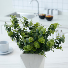 Simulated plant 7 fork eucalyptus leaf false flower household storefront wedding decoration simulation green potted