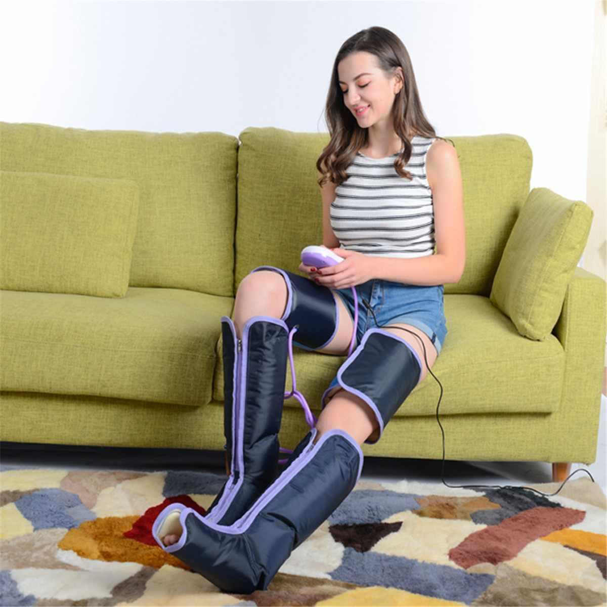 Enkels Circulatie Therapie Massager Elektrische Benen Massage Air Compressie Been Cover Kalf Arm Boot Sokken Ontspanning Gezondheidszorg