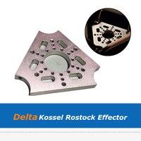 1pc 3D Printer Accessories Aluminum Alloy Multipurpose Delta Effector for DIY Kossel Rostock 3D Printer