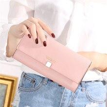 Купить с кэшбэком Luxury Long women wallets PU Leather Slim Female Woman Phone Wallet Cute Coin Purse Fashion Card Holder Ladies Clutch Money Bag