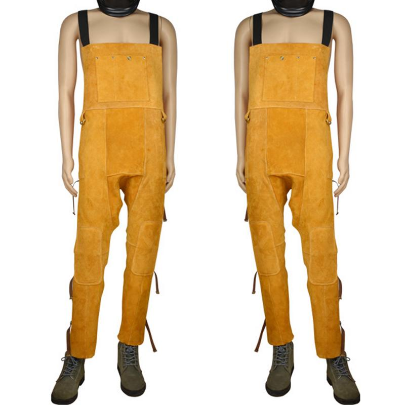 37254c7ebfb32 1pcs Welder Overalls Breathable Wear-Resistant Anti-Scalding Knee Protector  Leg Flame Retardant Leather Weld Protective Clothing