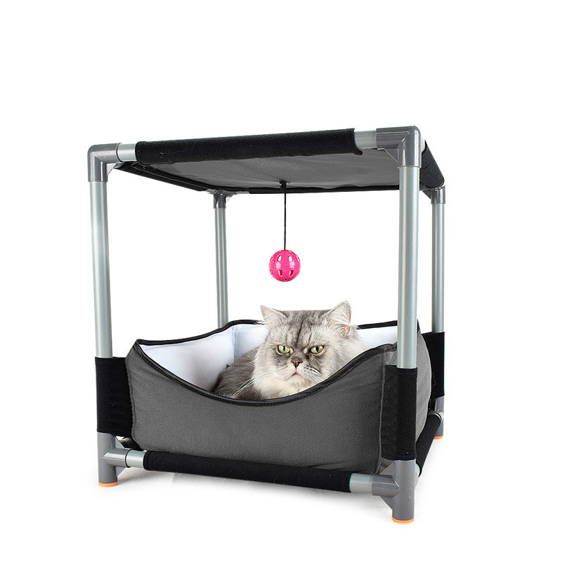 Creatieve Kat Klimrek Dubbele Laag Bed Hangmat Voor Katten Kat Speelgoed Kattenbakvulling Groothandel Dierbenodigdheden Kat Boom Huis Elegant En Stevig Pakket