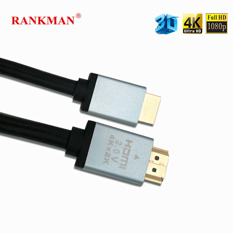 Rankman Gold-plated HDMI 2.0 Cable 4K*2K 3D HDMI to HDMI for TV LCD Laptop PS3/4 Projector Computer DVD 1.5/3/5/10/15/20/25m