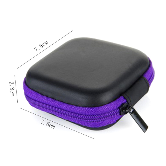 Fashion Portable Silicone Coin Purse Mini Round Bag For Earphone SD Cards Cable Cord Wire Storage Key Wallet 1