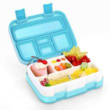 Healthy Material Lunch Box Leakproof 5 Compartment Food Container Plastic Flip Cover Outdoor School Lunchbox With Spoon