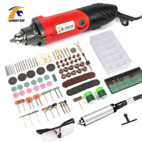 Tungfull 500W Power Tools Electric Mini Drill Polished Engraved With Dremel Accessories Electric Rotary Tool Grinding Machine
