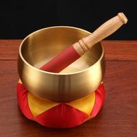 Tibetan Buddhist Copper Chanting Healing Yoga Meditation Sing Sound Therapy Bowl