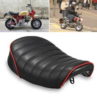 Black Motorcycle Cafe Racer Seat Custom Vintage Hump Saddle Flat pan Retro Seat For Honda