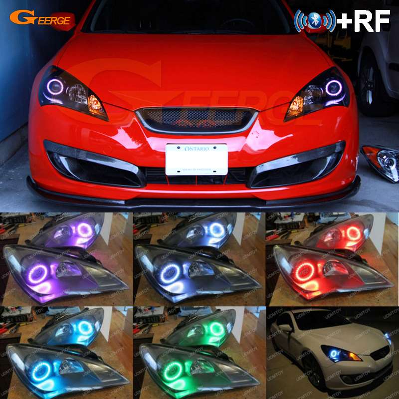 Us 30 52 12 Off For Hyundai Genesis Coupe 2010 2011 2012 Excellent Rf Bluetooth Controller Multi Color Ultra Bright Rgb Led Angel Eyes Kit In Car