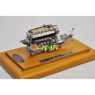 1/18 Scale Model CMC Bugatti 57 SC Engine Model Alloy Toys Hobbies Wooden Base Collectible Gifts Free Shipping