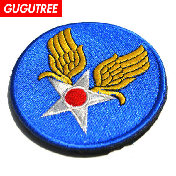 GUGUTREE embroidery HOOK LOOP letter patch wings star japan patches badges applique patches for clothing AD 276 in Patches from Home Garden