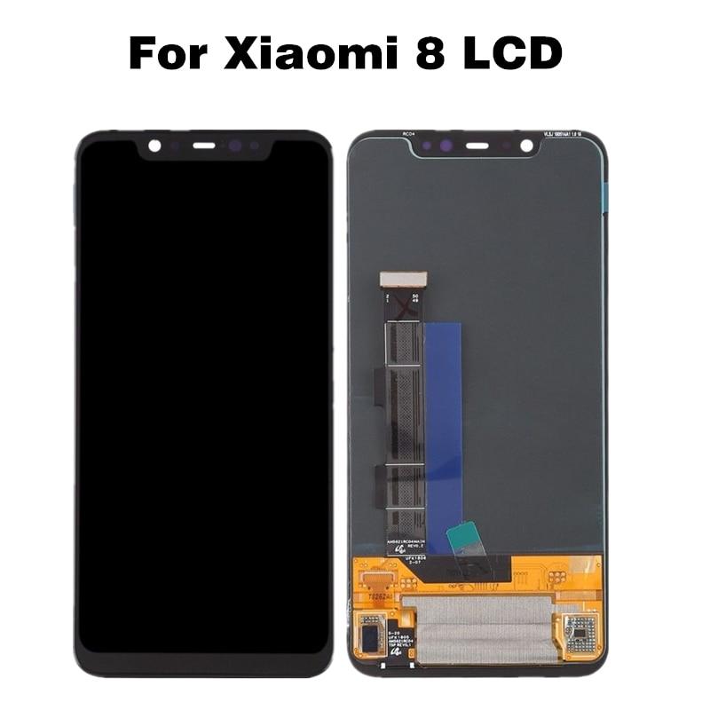Для Xiaomi 8 mi 8 ЖК дисплей mi 8 сенсорный экран дигитайзер сборка mi 8 Мобильный телефон ЖК Ремонт Запчасти