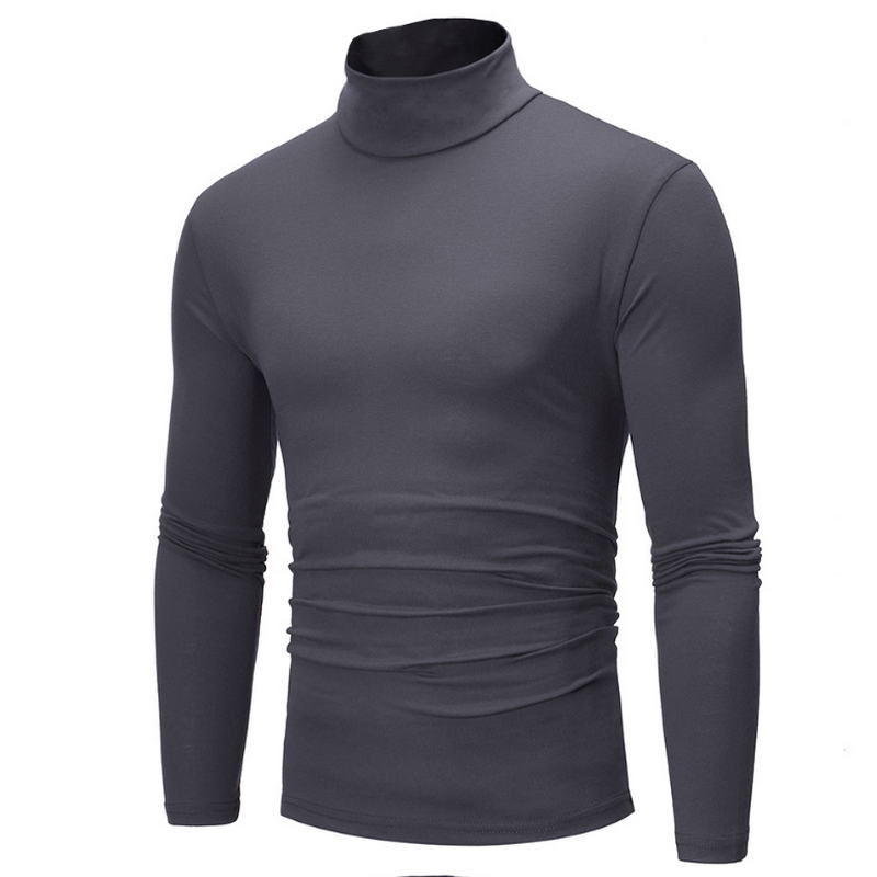 2019 New Autumn Winter Men'S Sweater Men'S Turtleneck Solid Color Casual Sweater Men's Slim Fit Brand Knitted Pullovers 7 color(China)