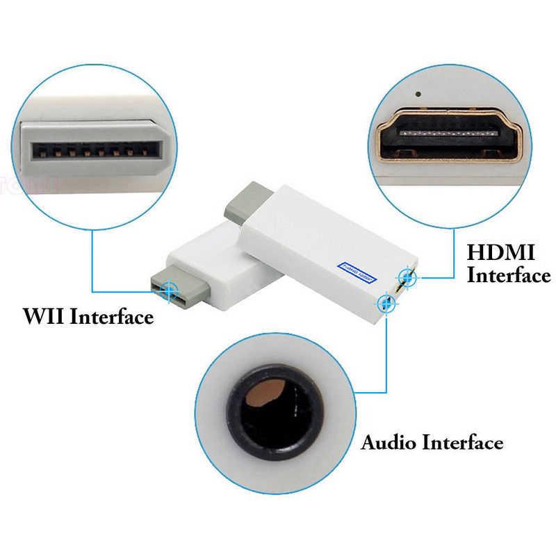 3.5 Mm Audio Video Converter Adaptor 1080P Upscaling untuk Wii untuk HDMI Video Audio Penuh Digital HDMI Format adaptor Konverter
