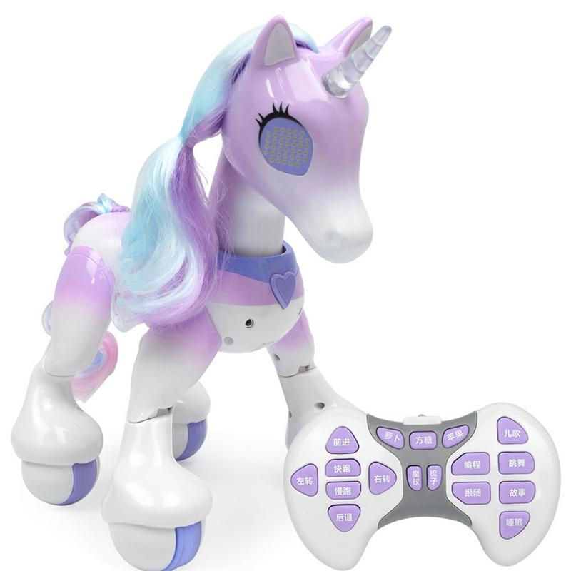 Coche de Control remoto para unicornio de unicornio niños Robot táctil inducción mascota electrónica educativos licorne juguete