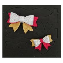 Резные штампы для скрапбукинга для волос, деревянный галстук-бабочка, режущие штампы, могут быть сделаны в форме банта, лента для бантов