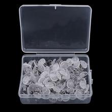 1 коробка, 100 штук, пластиковая Прозрачная Круглая обивка, спиральные гвозди, мебельные шпильки для дивана, шпильки, крепежные крепления