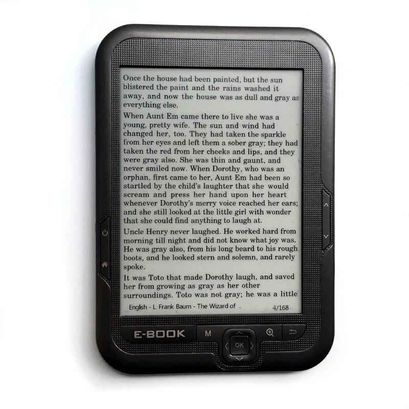 Lecteur e-book numérique 6 pouces e INK mémoire 16 go intégrée et prise en charge de la carte SD 800*600 lecteur d'écran d'encre lecteur Mp3