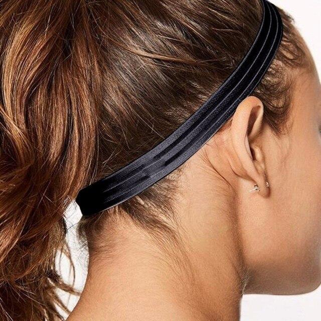 Không Trượt Người Đàn Ông Phụ Nữ Sweatband Thể Thao Tập Thể Dục Headband Tennis Cầu Lông Bóng Rổ Chạy Headband Tóc Ban Nhạc Mồ Hôi
