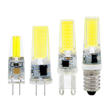 NEW Arrival  220V 3W G4 /G9/E14 COB LED Bulb 12V AC/DC 2W 2835SMD Lamp Light for Crystal Chandelier