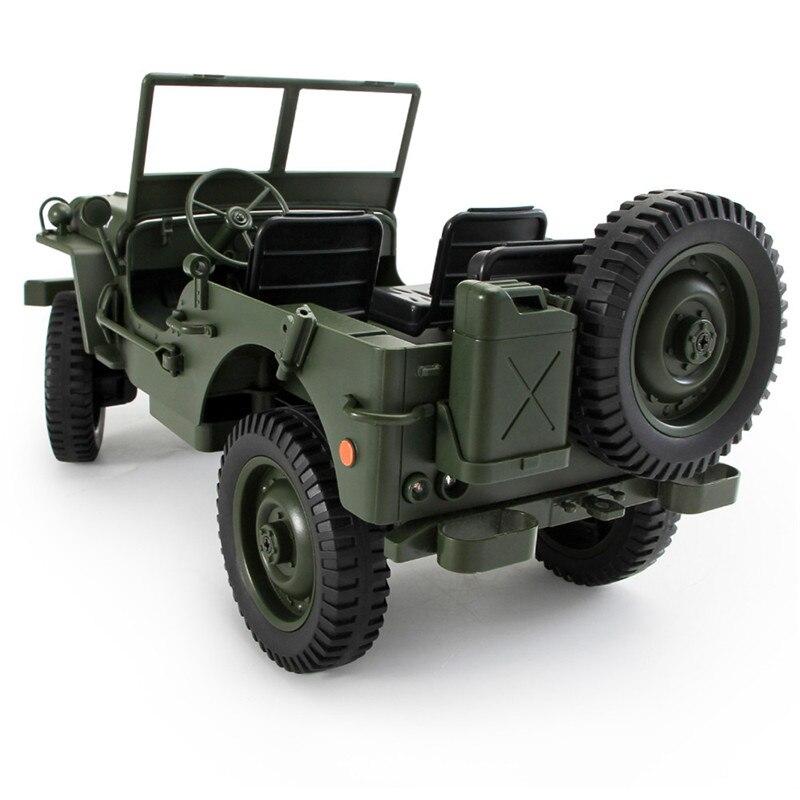 JJRC Q65 1:10 RC Voiture 2.4G 4WD Convertible télécommande Lumière Jeep Quatre Roues Motrices Hors Route Militaire escalade Voiture Jouet Enfant Cadeau - 6
