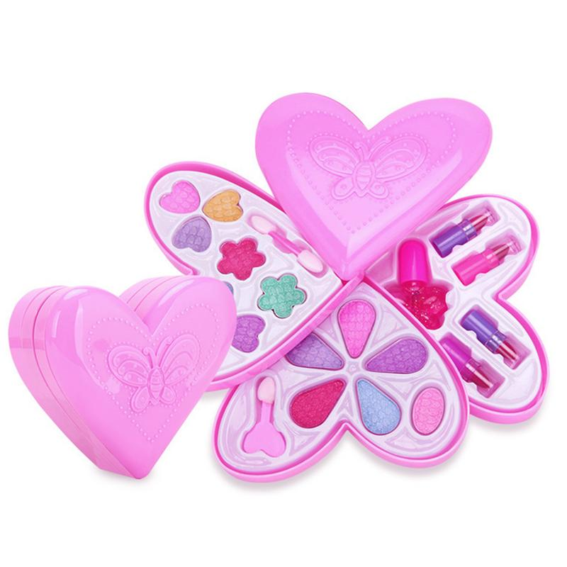 Hot Sale Strawberry Makeup Toys Baby Girls Pretend Play Safe Kids Girls Makeup Kit Toy Cosmetics Play Sets Gifts for Children